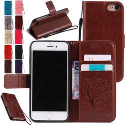 Fashion Wallet Leather Flip Phone Case Wristlet Cover For Ap
