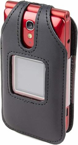 Fitted Leather Case for Alcatel 4043S GreatCall Jitterbug Fl