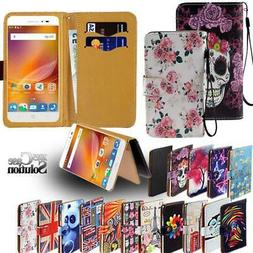 Flip Leather Card Wallet Stand Cover Phone Case For ZTE Blad