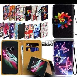 Flip Leather Wallet Stand Cover SmartPhones Case For Alcatel