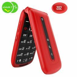Ushining Flip Phone 2.4 SOS Setting Button on The Back,Dual