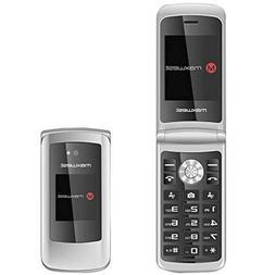 Flip Phone 3G GSM Unlocked BIG BUTTONS Dual Sim Maxwest Vice