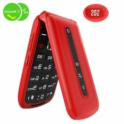 Flip Phone Unlocked SOS Button Dual SIM Card Easy to Use Unl