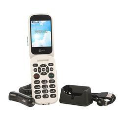 Doro Flip Tracfone with 1200 Mins Talk/1200Texts/1.2GB Data