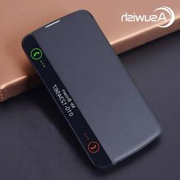 Asuwish <font><b>Flip</b></font> Cover Leather Case For LG K