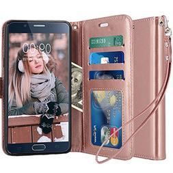 LK Case for Galaxy Note 5,  Luxury PU Leather Wallet Flip Pr