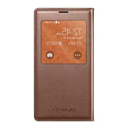 Samsung Galaxy S5 Case S View Flip Cover Folio, Rose Gold
