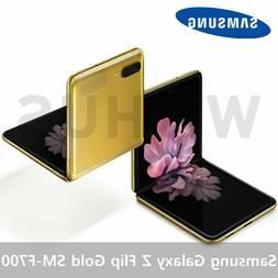 Samsung Galaxy Z Flip Mirror Gold SM-F700 4G LTE 256GB Unloc