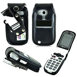 Genuine Leather Fitted Case for Consumer Cellular Doro 626 f