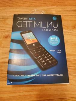 Go Flip 2 AT&T 4G GSM LTE WiFi Flip Phone Gray
