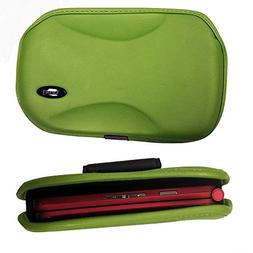 Green Horizontal Open Top EVA Carry Case with Wide Clip fits