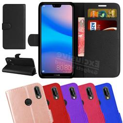 Case For Huawei P20 Lite Phone Luxury Leather Magnetic Flip