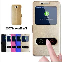 For Huawei Y5 II Case Quick View Window Stand Cover For Huaw