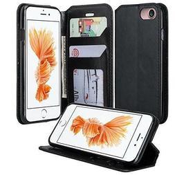 iPhone 7 Case Premium PU Leather Wallet Flip Phone Cover
