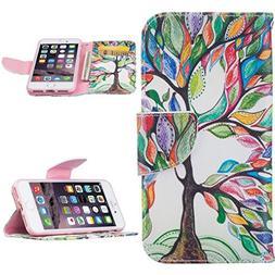 iPhone 7case,iPhone 8 case,Coloyanxi Premium PU Leather Flip