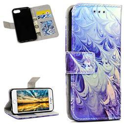 iPhone 8 Case 2017, iPhone 7 Case 2016 Wallet Flip Sparkle P