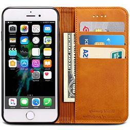 iPhone XR Case, SINIANL Premium Leather Wallet Case Business