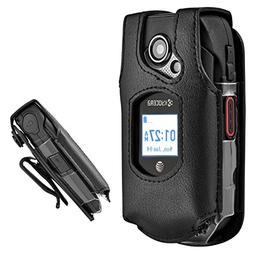 Kyocera DuraXE XE Leather Case - Phone with Belt Clip Swivel