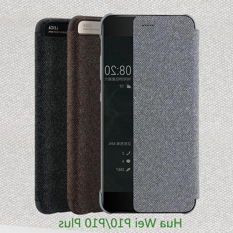 100% For Huawei P10 Plus View Flip Cover