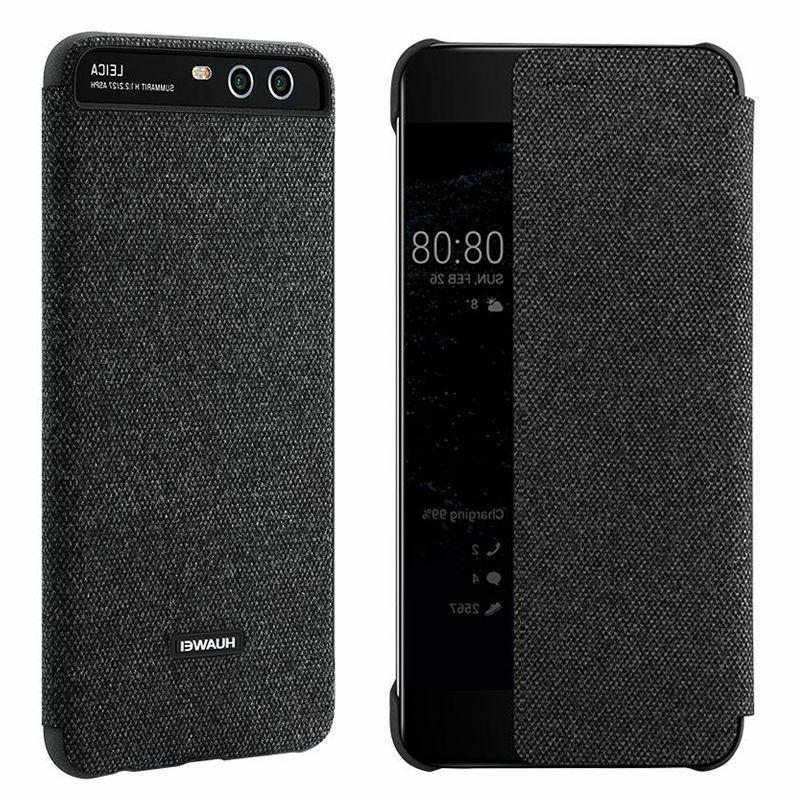 100% Huawei P10 Smart View Flip Leather Cover