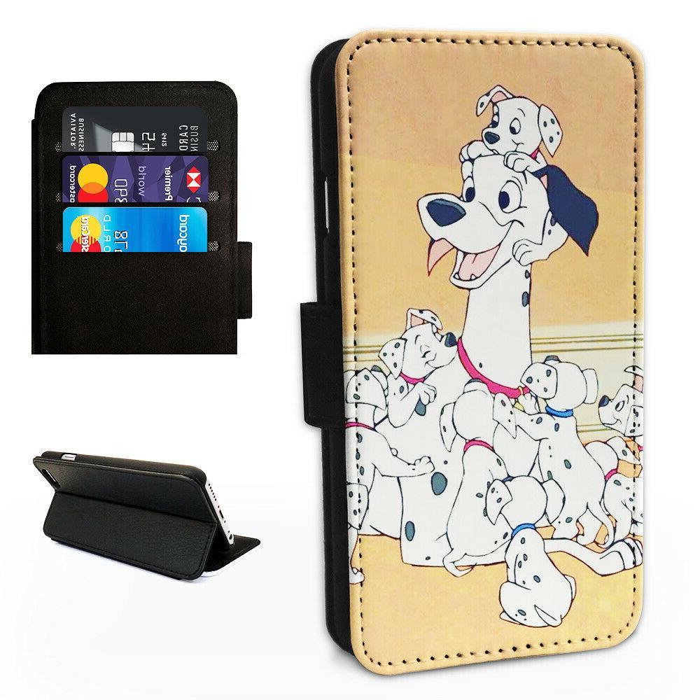 101 dalmatians dogs flip phone case wallet