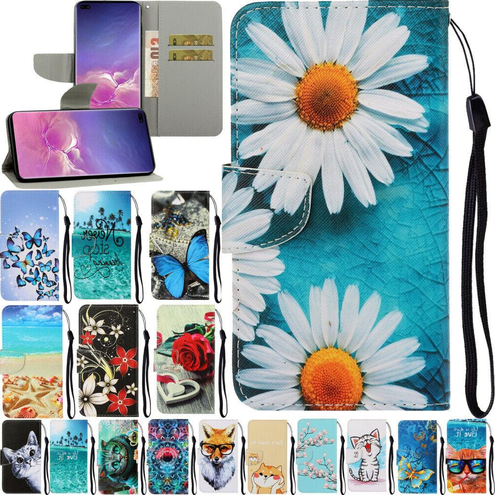 2018 pattern wallet flip stand phone case