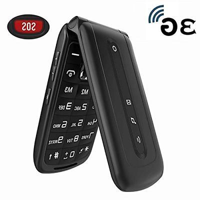 Ushining 3G Unlocked Flip Phone Dual SIM Card Flip Cell Phon