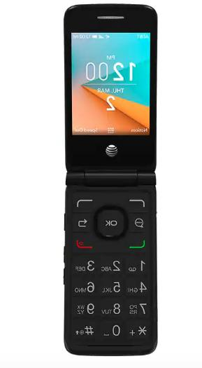 New Alcatel 4044 AT&T 4G LTE Cingular Flip phone Cell Phone