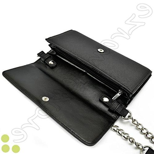 Case+Stand Women Fits KYOCERA Sony etc. Phone Shoulder Strap Handle Wallet – Following Models: