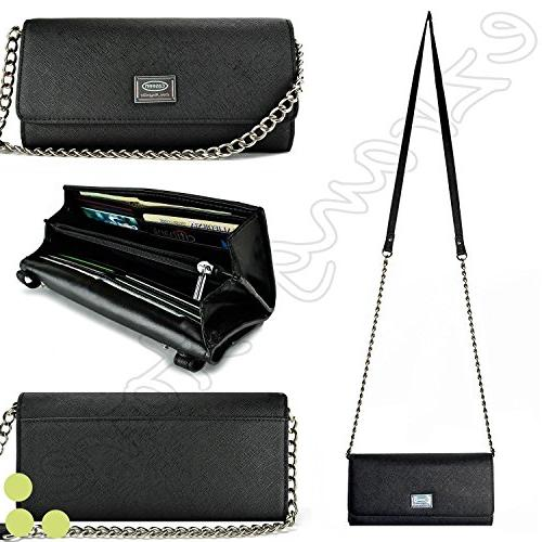 Case+Stand Women Luxury Purse/Pouch/Clutch Fits ALCATEL KYOC
