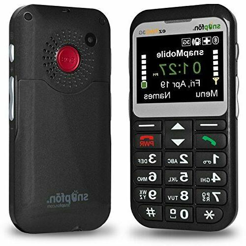 Snapfon ezTWO Senior Unlocked GSM Cell Phone, SOS Button, He