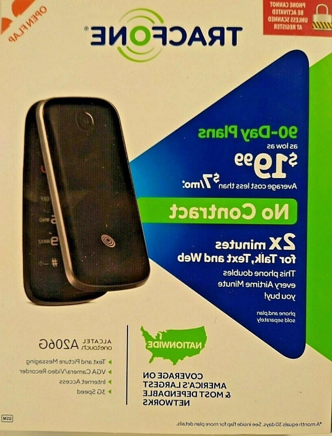 TracFone Alcatel A206G No Contract Phone - Retail Packaging