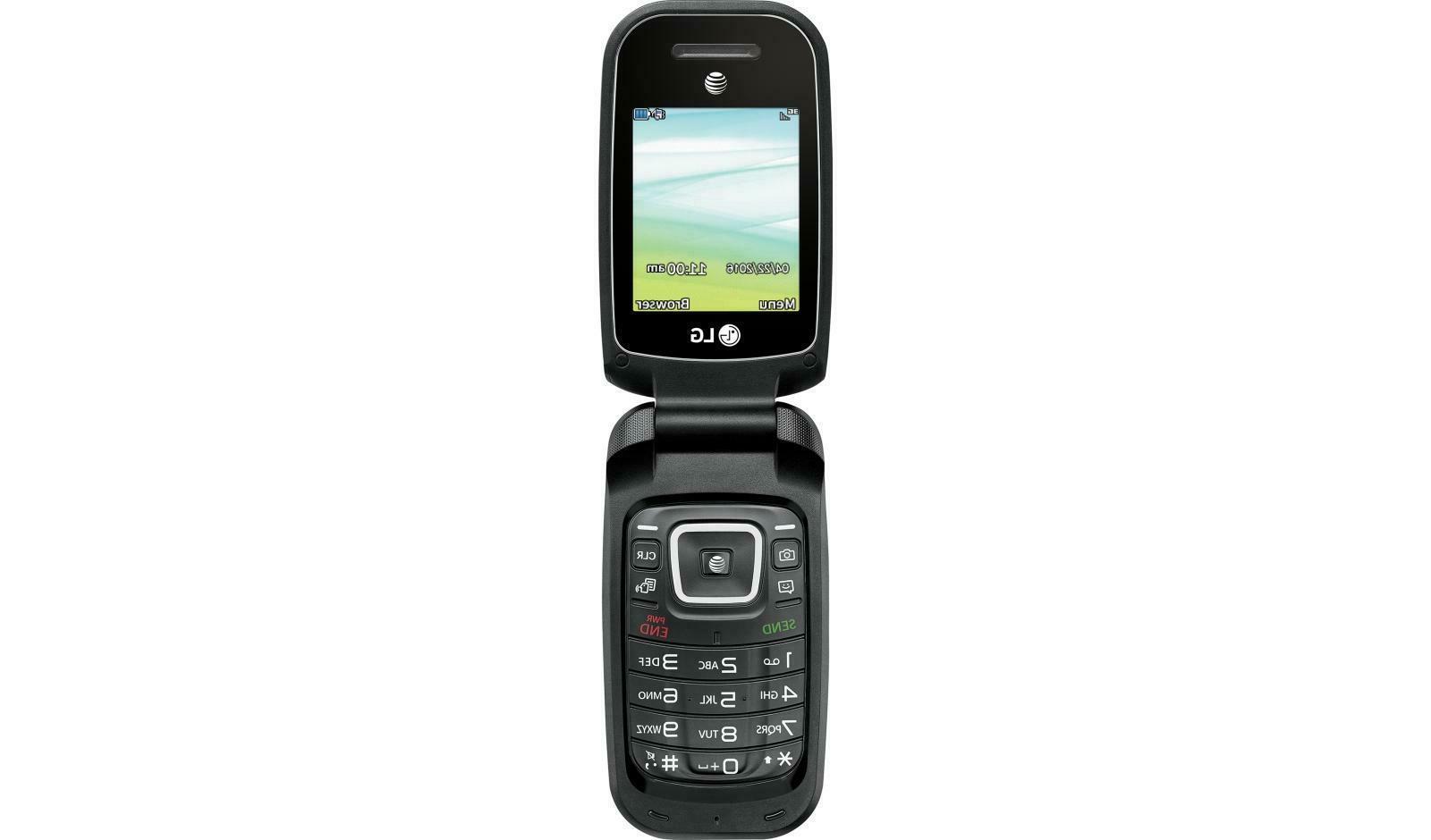 LG AT&T Prepaid Basic Phone, Black - to