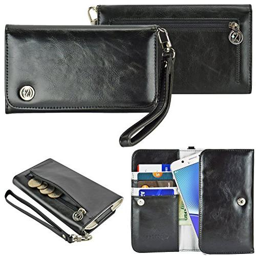 case stand pu leather purse