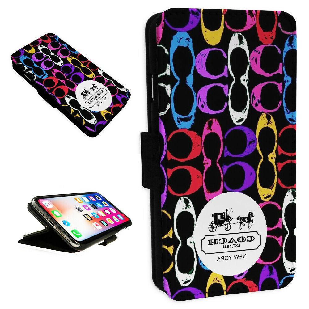 coach new york design flip phone case