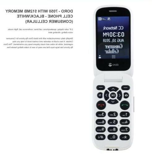 Consumer Cellular Doro 7050 W/512MB Ram Flip Phone