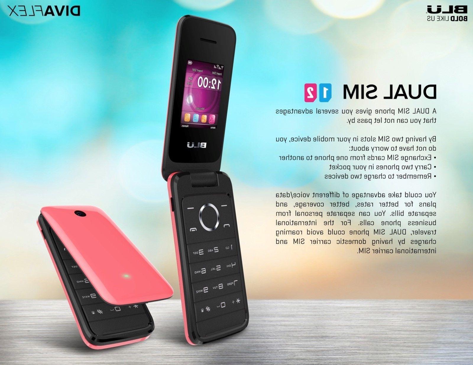 BLU Diva Flex 2G Phone VGA Dual New