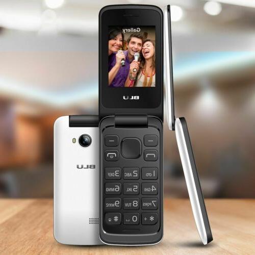 BLU Flex T350 Cell Phone Unlocked Flip T9 Key