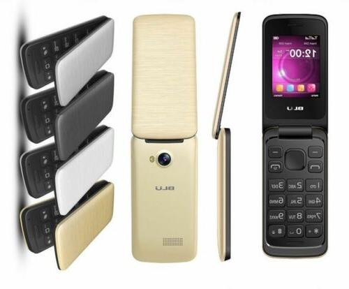 "BLU Diva 2.4"" T350 Cell Unlocked Flip Phone Key"
