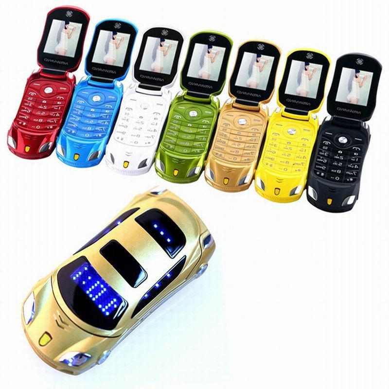 Flip flashlight dual sim cards mp3 super small cellphone car