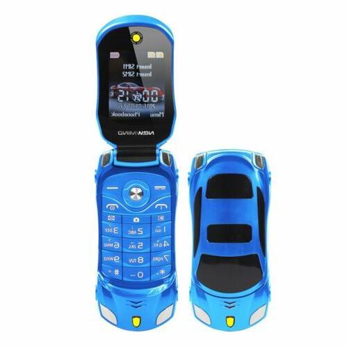 "F15 Flip Car 1.8"" Mini Cell Phone Dual SIM Unlocked Mobile"
