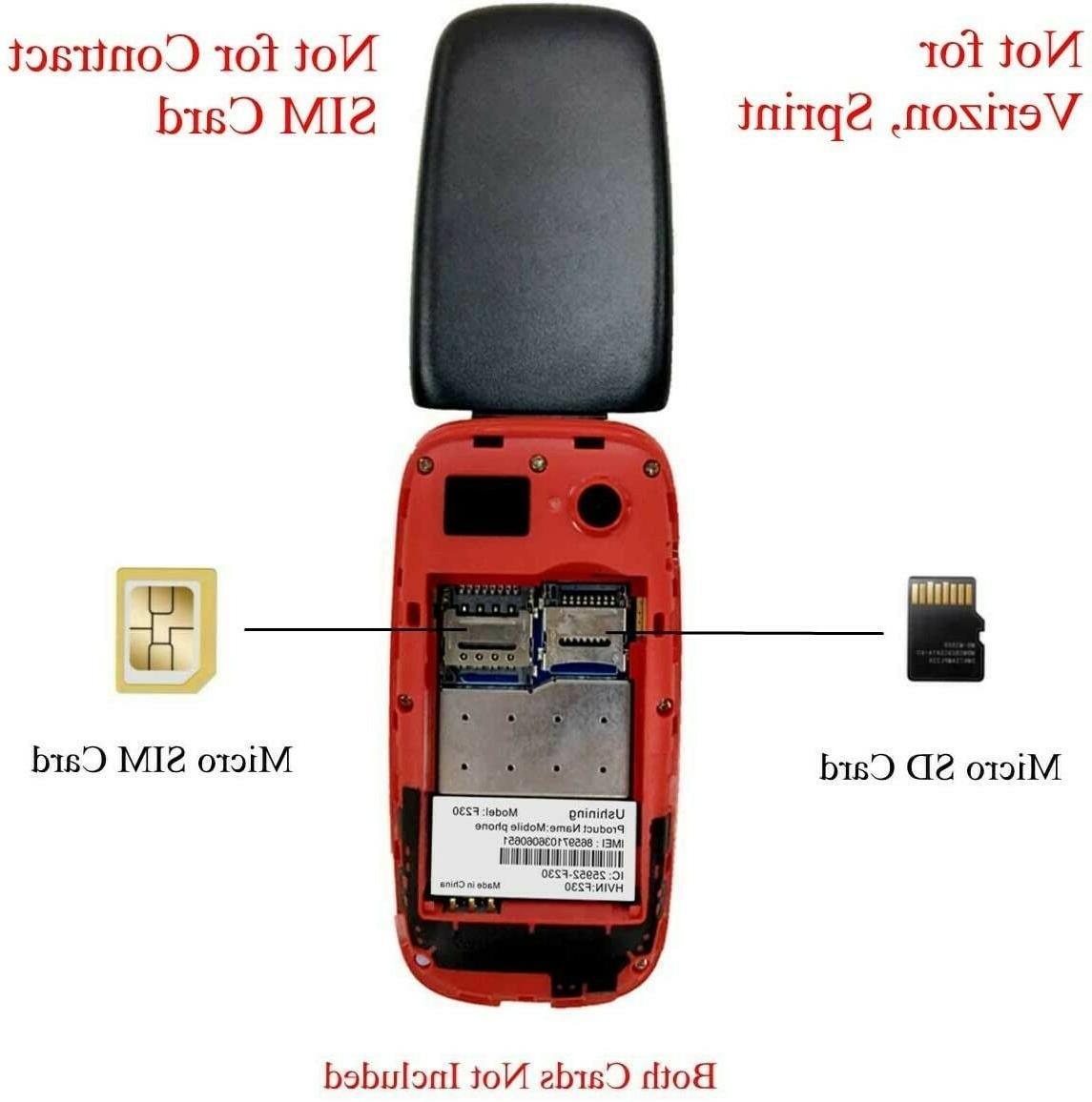 Ushining F230 3G Unlocked Tmobile Flip Icon Phone