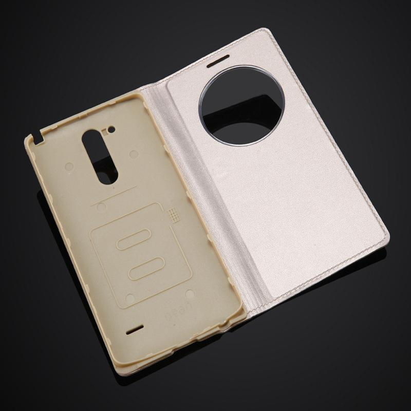 Fashion Window Circle Case <font><b>LG</b></font> G3 Stylus D690 Luxury Cell <font><b>Phone</b></font> Leather <font><b>Flip</b></font>