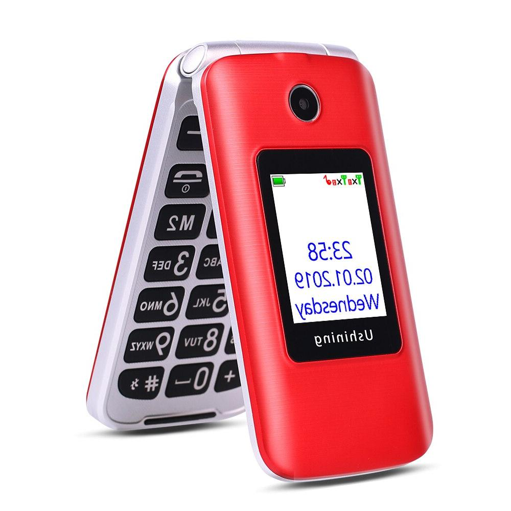 <font><b>Ushining</b></font> 3G <font><b>Phone</b></font> Dual Screen Dual SIM 3G Unlocked Big Button Easy-to-Use