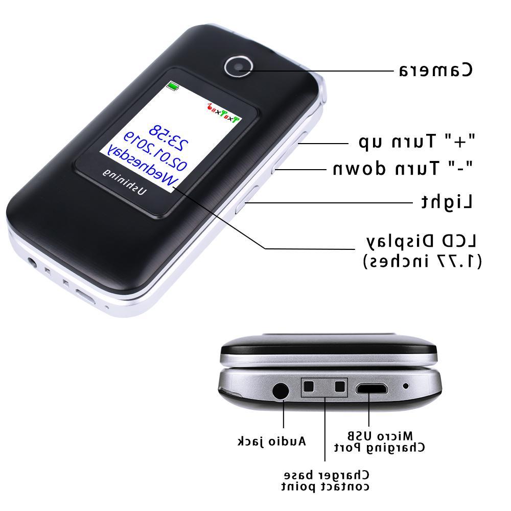 <font><b>Ushining</b></font> Mobile <font><b>Phone</b></font> Screen Dual 3G Unlocked Senior Big