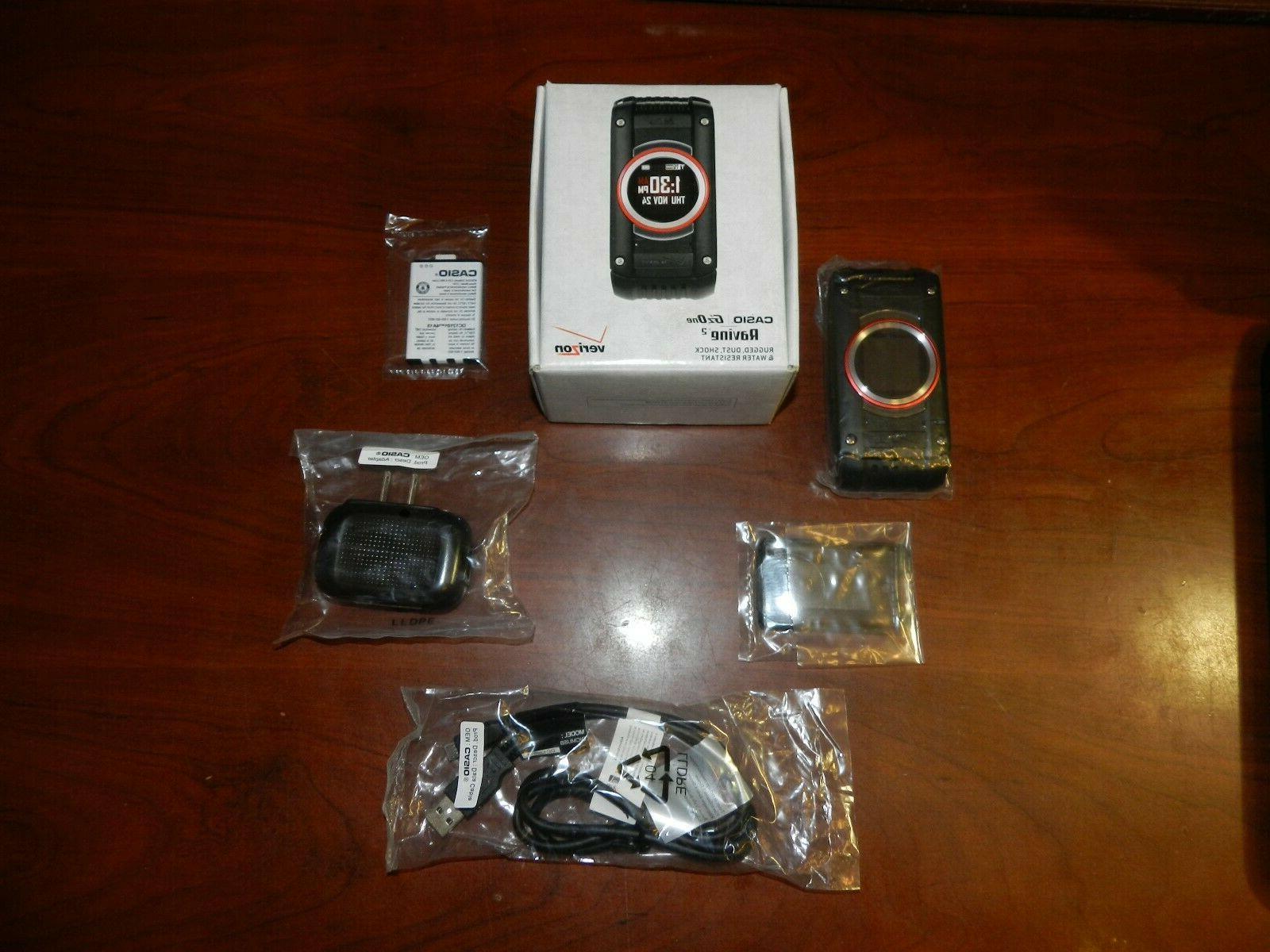 Casio 2 C781 Black Verizon Flip Phone READ