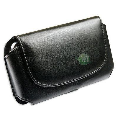 Genuine Leather Pouch Belt Clip Cell Phone Case for Alcatel