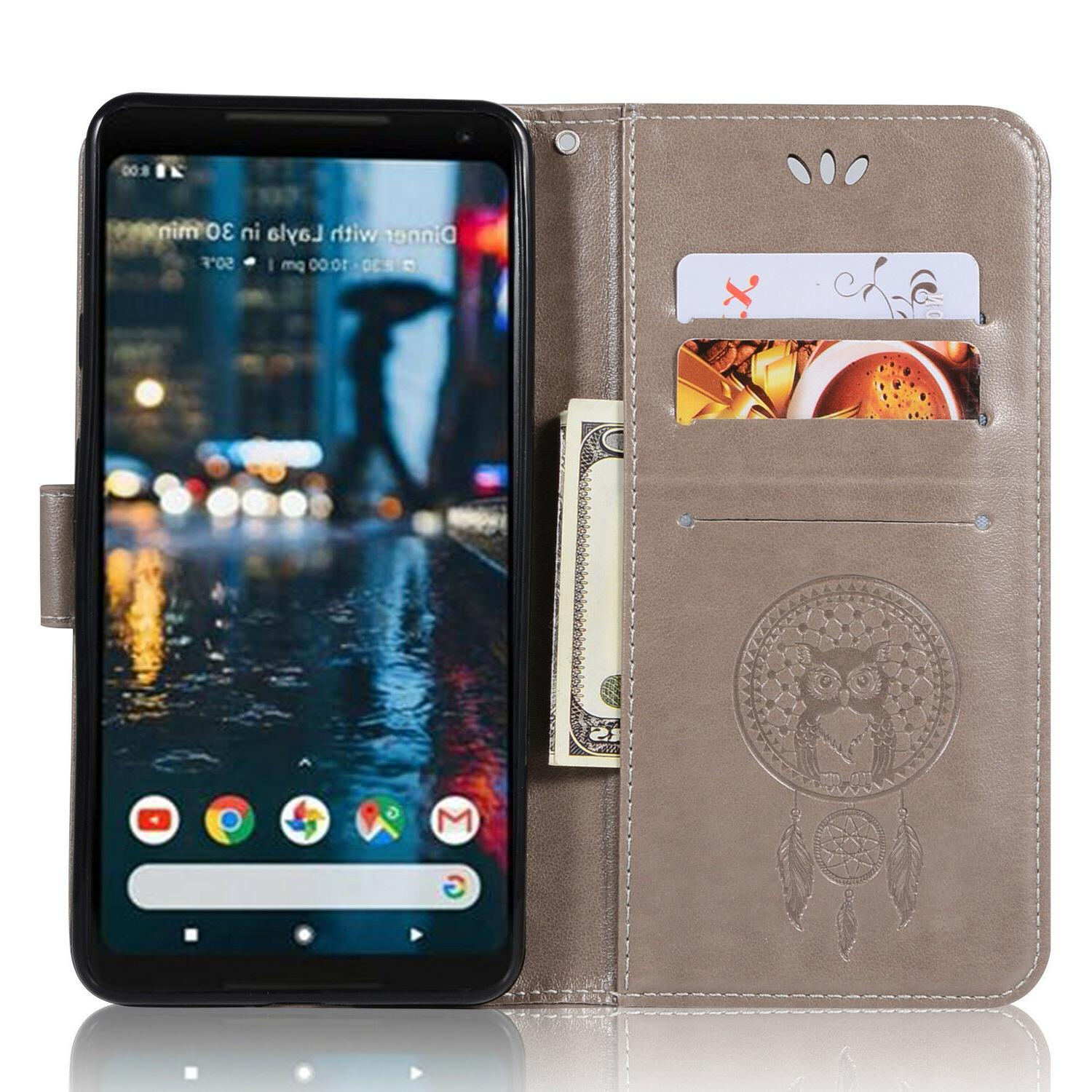 For Google 2 Leather Wallet Phone Card Cover