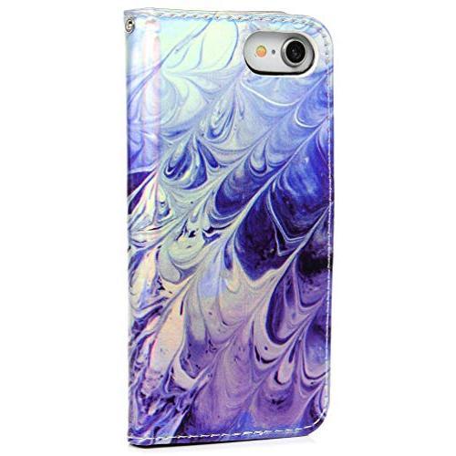 iPhone iPhone Wallet Flip Painting Design Kickstand Shock Absorption Technology Bumper Skin Magnetic for 8/7 Badalink
