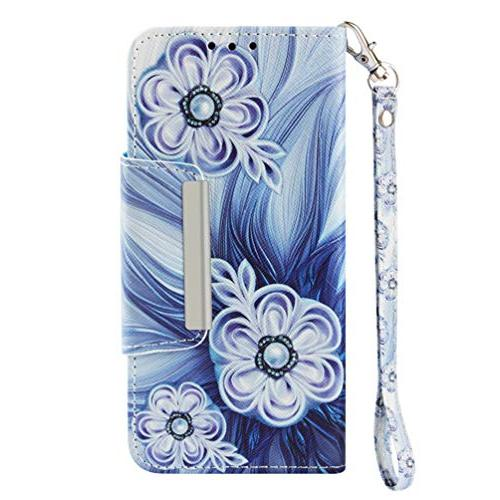 Wallet, iPhone Case Flip Cover Color Cute Painting Soft Bumper Skin Shell Wristlet Card Slots / iPhone